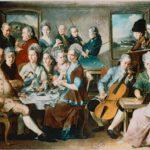 3-Z1-R1 J.Zick, Familie Remy in Bendorf/ 1776 Zick, Januarius 1730-1797. 'Die Familie Johannes Remy in Bendorf bei Koblenz', 1776. Oel auf Leinwand, 200 x 276 cm. Nuernberg, Germanisches Nationalmuseum.